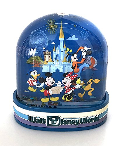 Walt Disney World Mickey Mouse Four Parks Passport Plastic Snowglobe (Mickey Mouse Snowglobe)