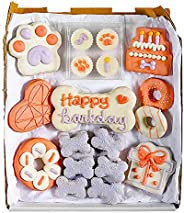 Wüfers Birthday Boy/Girl Handmade Hand-Decorated Dog Treats Cookies Box, 10+ Cookies