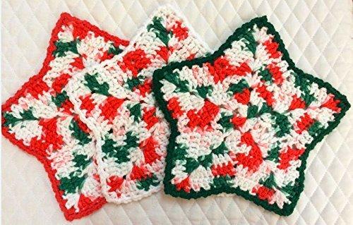 Amazon Set Of 3 Holiday Star Dishcloths Handmade