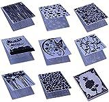 Embossing Folder for Card Making Flower Christmas Heart Star DIY Plastic Scrapbooking Photo Album Card Paper DIY Craft Decoration Template Mold (9 Pcs)