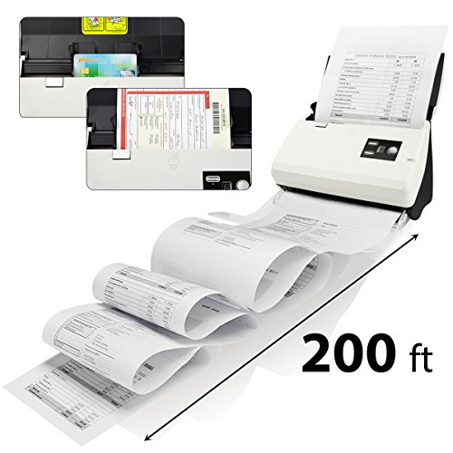 Plustek PS30D duplex Document Scanner: with 50 Sheet Auto Document Feeder (ADF) and searchable PDF function by Abbyy OCR. Support Mac and PC by Plustek (Image #1)