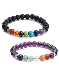 5Mayi Natural Genuine Unisex Energy Stone Beads Chakra Bracelets Wrist Stretch