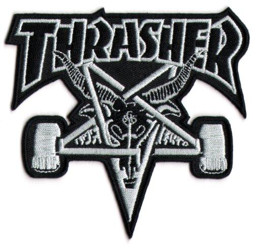Thrasher Skateboard Magazine Punk Rock Music Skateboard Patch - Iron/Sew On New by Thrasher Magazine