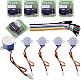 FTCBlock 5 Sets 28BYJ-48 ULN2003 5V Stepper Motor ULN2003 Driver Board with 40pin Jumper Wire for Arduino