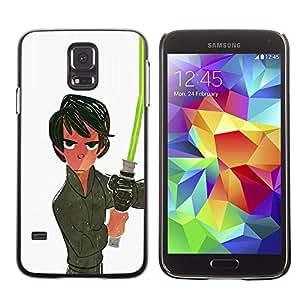 Be Good Phone Accessory // Dura Cáscara cubierta Protectora Caso Carcasa Funda de Protección para Samsung Galaxy S5 SM-G900 // Light White Saber Han Movie Sci Fi Space