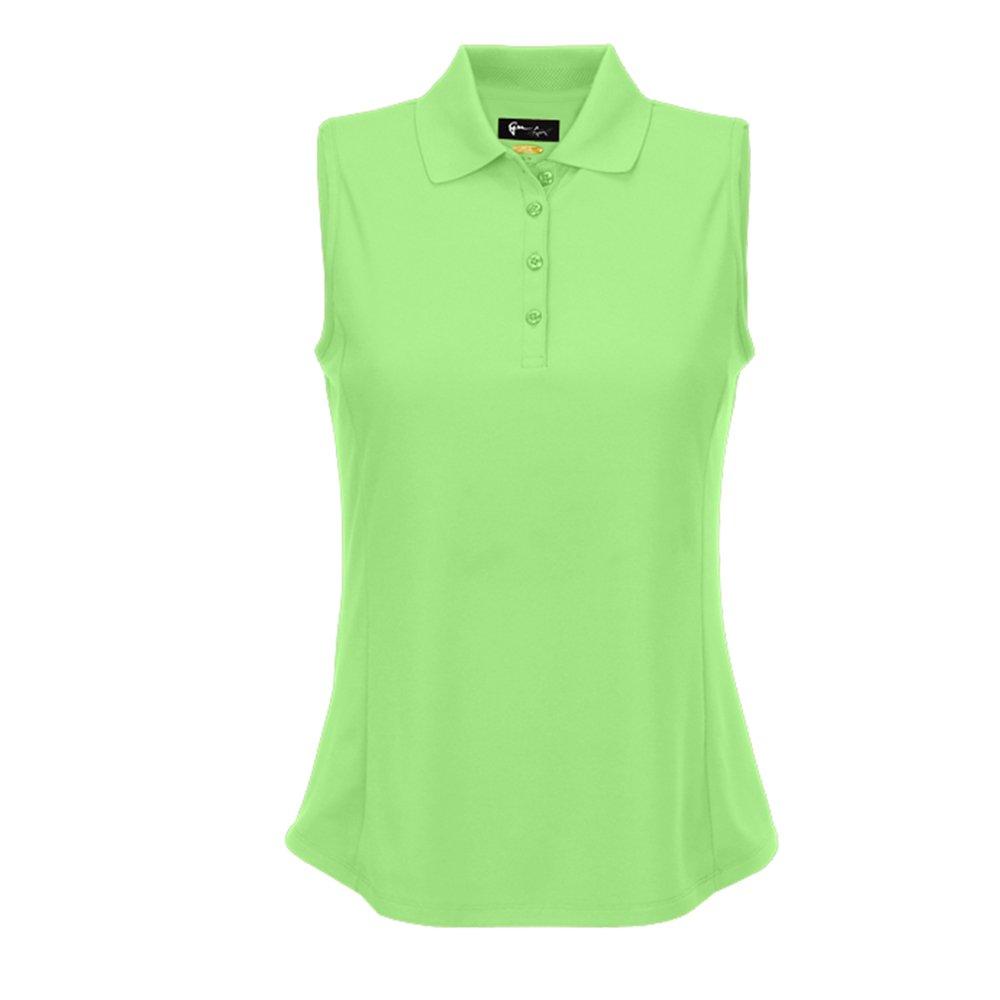 Greg Norman Women's Protek Micro Pique Sleeveless Polo - Island Green - X-Small