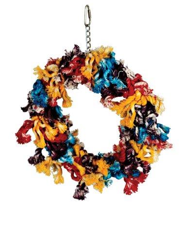Paradise Toys Cotton Preening Ring, colorful & Entertaining, Large, 12  x 14