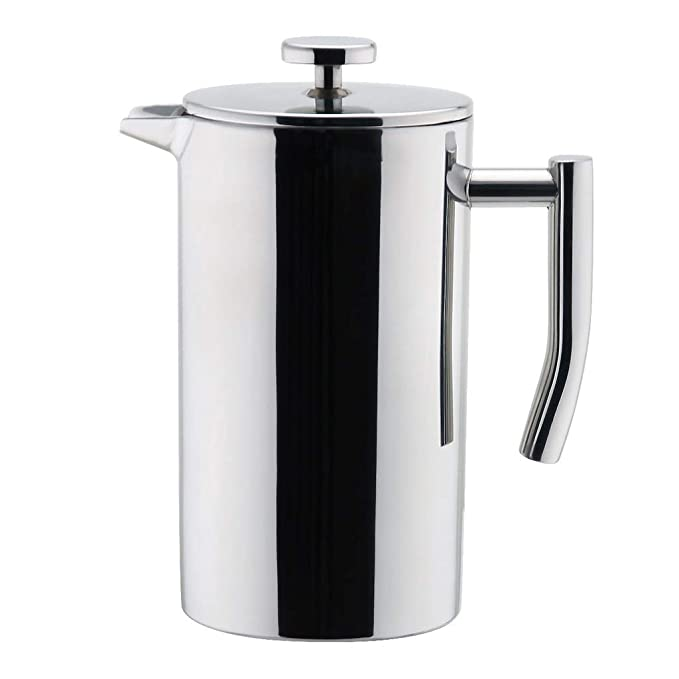 MIRA 12 oz Stainless Steel French Press Coffee Maker | Double Walled Insulated Coffee & Tea Brewer Pot & Maker | Keeps Brewed Coffee or Tea Hot | 350 ml best french press