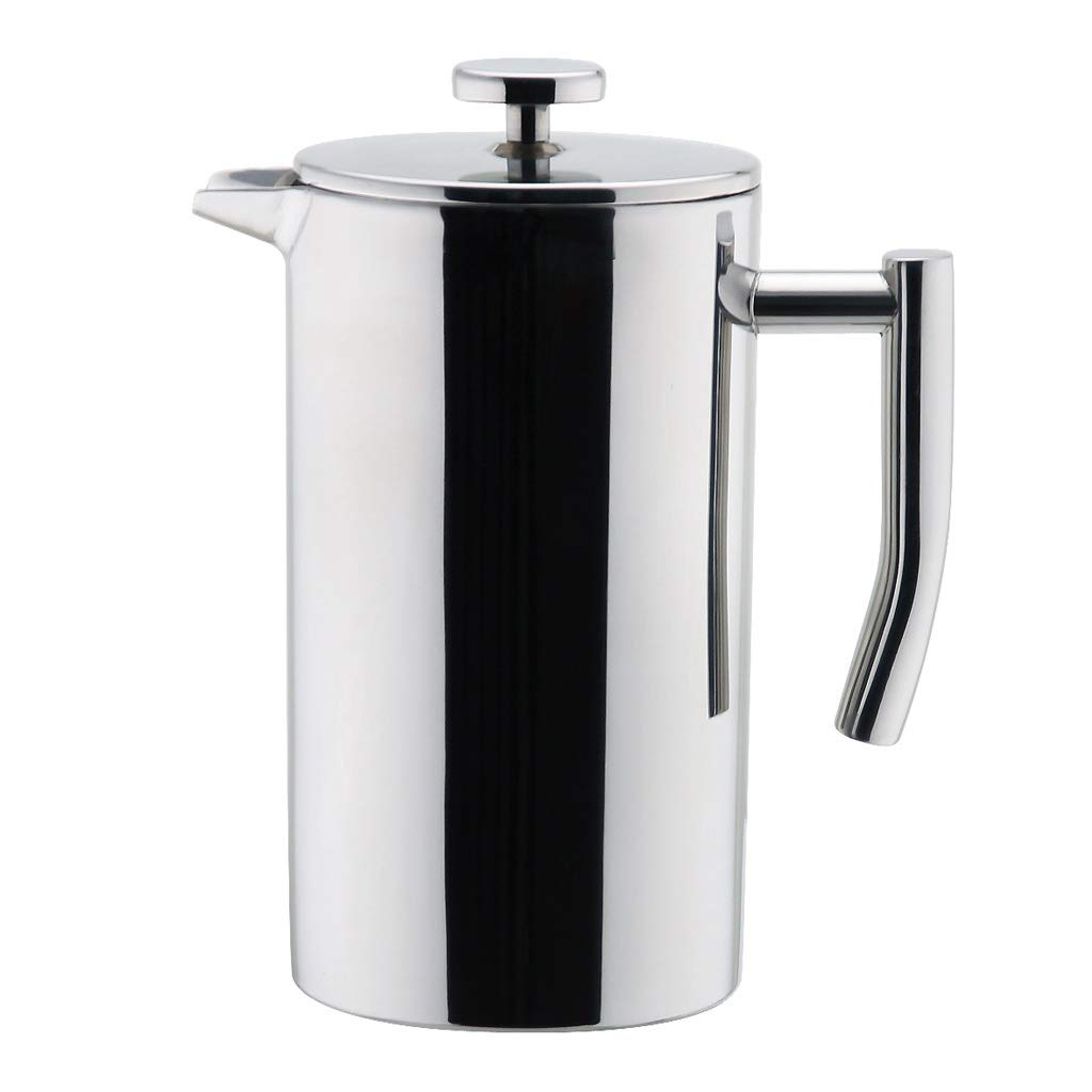 MIRA Stainless Steel French Press Coffee Maker | Double Walled Insulated Coffee & Tea Brewer Pot & Maker | Keeps Brewed Coffee or Tea Hot | 12 Oz (350 ml) by MIRA Brands