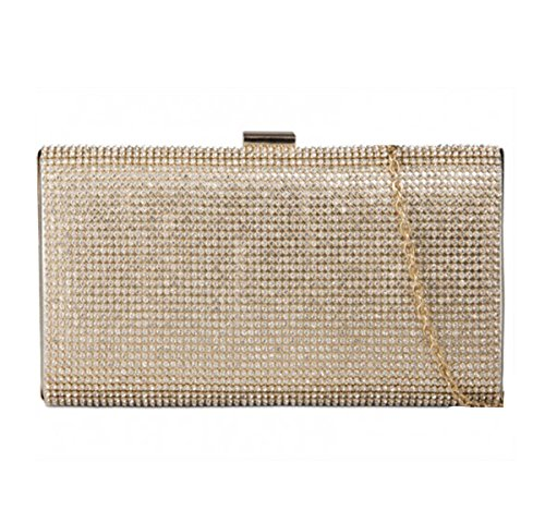 Hard Clutch Diamante LeahWard Women's Evening Wedding Gold Wedding Bag Case Handbags 20516 nA5IqS4Itx