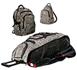 Cheetah Camouflage Cobra XL Softball Baseball Catchers Bat Equipment Roller Bag