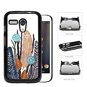 Native Feathers And Leaves Hard Plastic Snap On Cell Phone Case Motorola Moto G