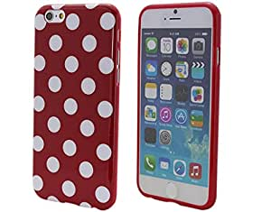 """BONAMART ? Gel TPU Silicone Polka Dots Case Cover for Apple iPhone 6 4.7"""" Protective"""