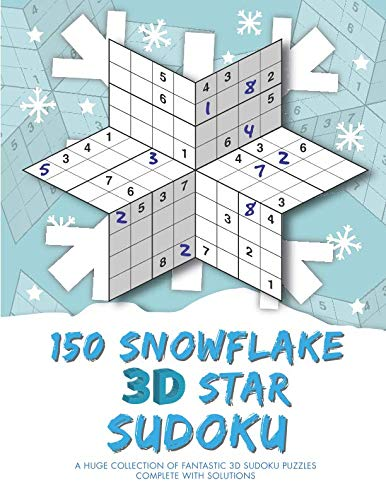 150 Snowflake 3D Star Sudoku - Sudoku 3d
