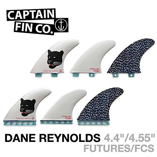 CAPTAIN FIN キャプテンフィン Dane Reynolds デーンレイノルズ FCS TRI FIN [S][M][L] トライフィン ショートボード用 サーフィン フィン Large  B01KK4PEY2