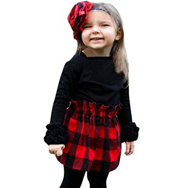 Amazon Com Toddler Baby Girls Fall Winter Clothes Blouse 1 4 Years