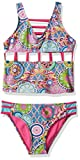 YMI Big Girls' Peace and Love Tankini, Multi-Colored, 14
