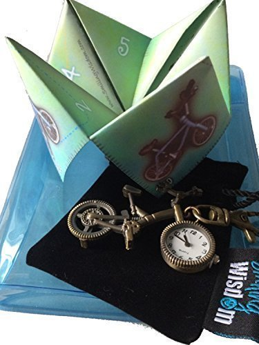 Buy Bike Pocket Watch And Childrens Paper Origami Game (Cootie