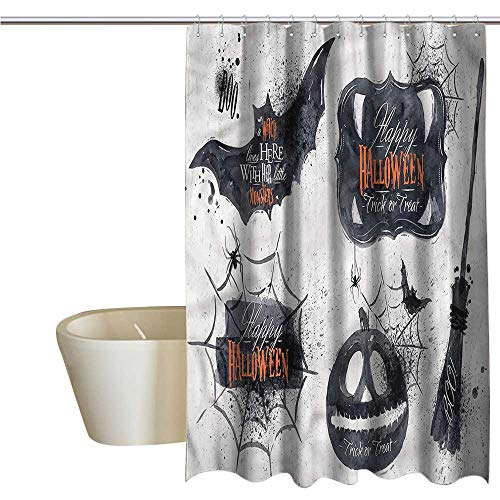 RenteriaDecor Shower Curtains Train Vintage Halloween,Holiday Witch,W55 x L84,Shower Curtain for Women