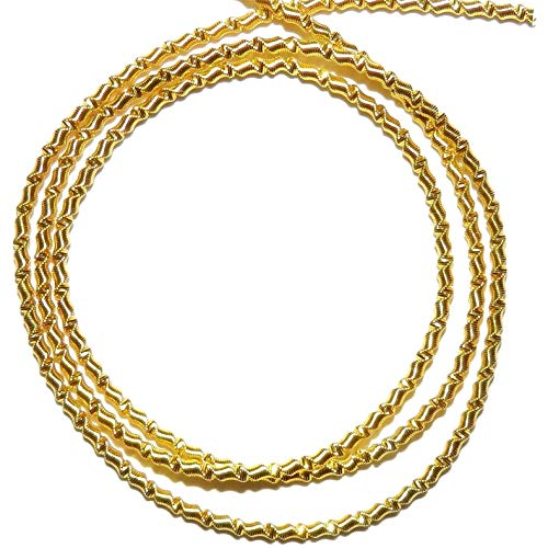 French Wire Gold-Finish Zig-Zag 1mm Bullion Jewelry Component 13 (Bullion French Wire)