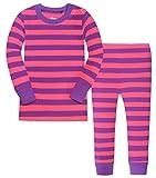 Amazon Price History for:Little Girls Striped Pajamas Christmas Children PJs Gift Set Cotton Sleepwear