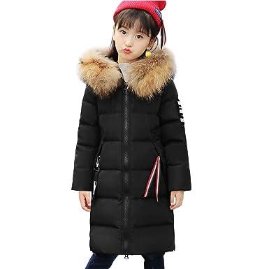 LPATTERN Enfant Fille Doudoune Duvet Manteau d hiver Blouson Chaude  Mi-Longue avec Capuche 7188438cc2b