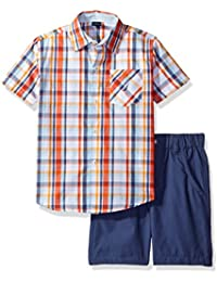Nautica Boys' Short Sleeve Button Down Shirt and Pull on...