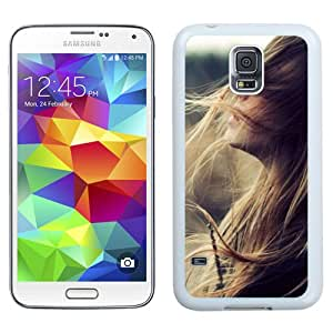 Beautiful Girl Face Flying Hair (2) Hard Plastic Samsung Galaxy S5 I9600 Protective Phone Case