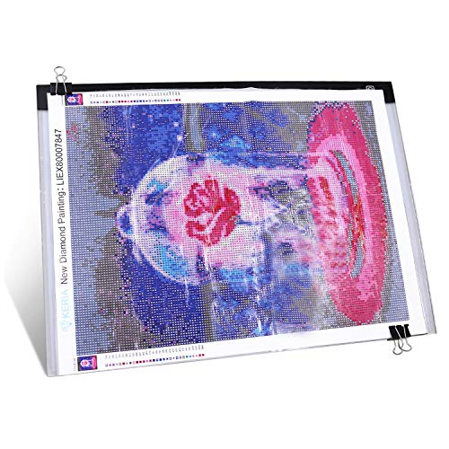 Diamond Painting A3 Dimmable Light Pad with 3 level brightness LED Tablet Bright Light Pad Light Box Apply to 5D Diamond Painting Artcraft Tattoo Watercolour Copy Quilting Tracing by Number Kit