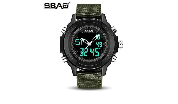 Amh de SBAO S de 9000 multifunción estilo completo saludable Lifestyle Reloj Deportivo, hombre Teen Joven Digital Outdoor Sport impermeable Creative ...