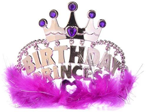 Birthday Princess Tiara Marabou Funny
