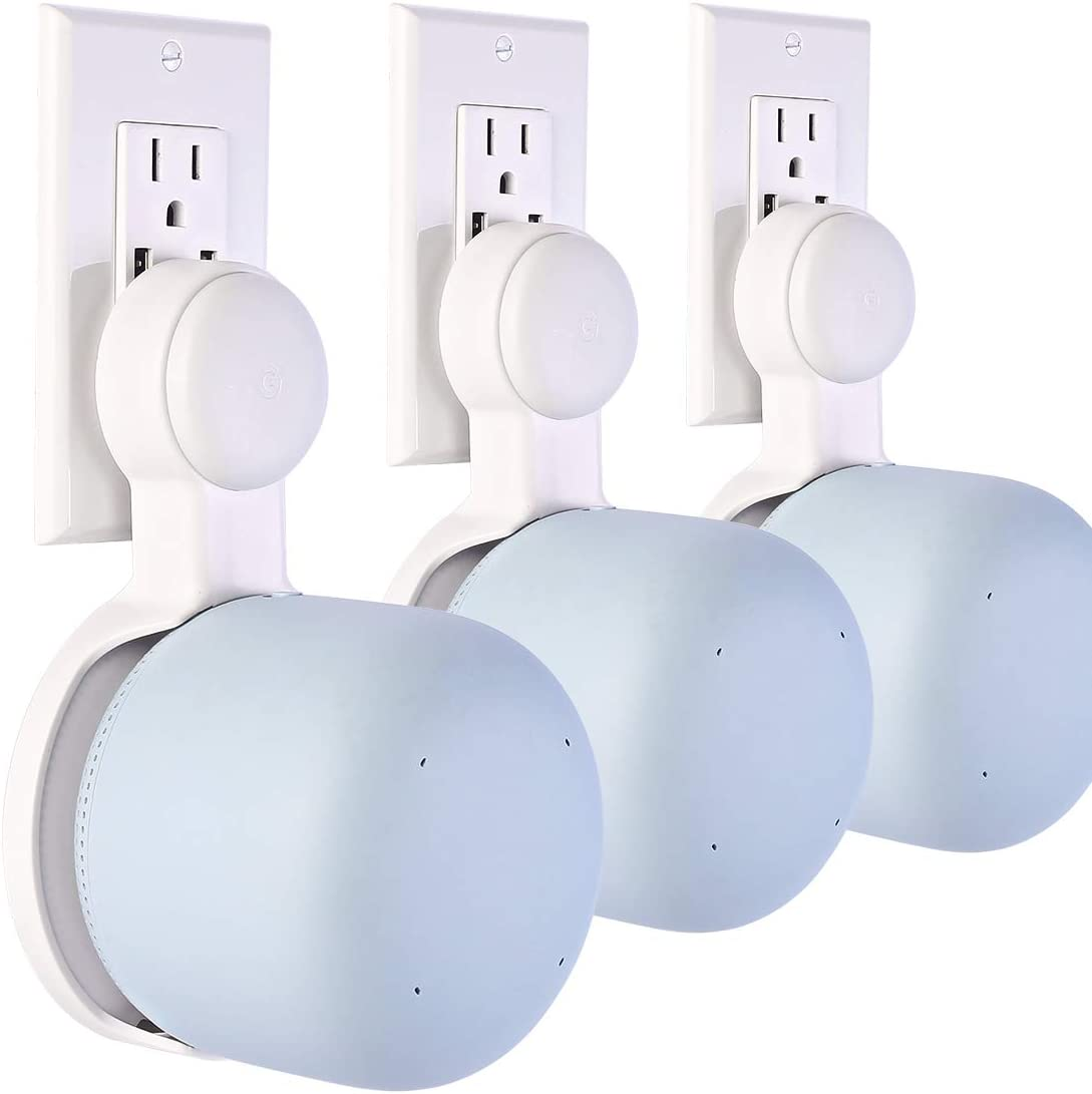 Outlet Wall Mount for Google Nest WiFi Point, Easy Moved Space Saving Cord Management Only for Google Nest WiFi Point, Without Messy Wires or Screws (3 Pack)