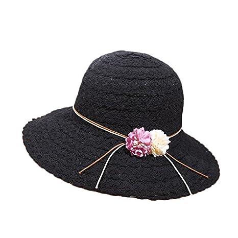 5f2a4fc681c9ea ALWLj Summer Women Sun Hats Fashion Design Ladies Flowers Wide Brim Straw  Hats Girls Foldable Beach