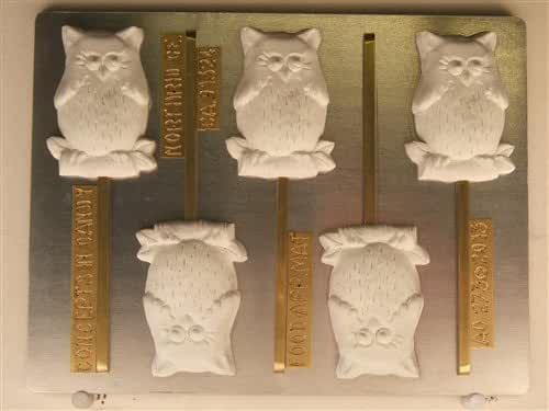Wise Owl On A Branch Lollipop Candy Mold AO273 All Occasion Chocolate Candy Mold