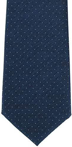 Navy Pin Dot Silk Tie by Michelsons of London