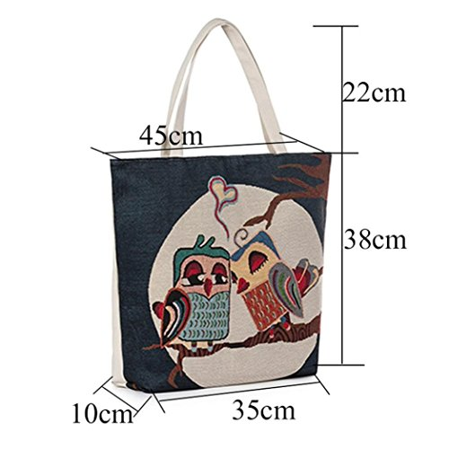 Printed Bag TM Tote Handbags Bags Casual Owl Women Style Shopping Canvas C Beach DEESEE wqSnEAvxq