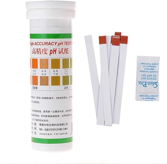 FangWWW Rond 5 m 0-14 PH Acide Alcalin Papier Indicateur Eau//Urine//Salive//Litmus Testeur