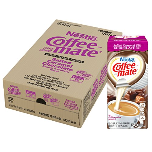 NESTLE COFFEE-MATE Coffee Creamer, Salted Caramel Chocolate, liquid creamer singles, 50 Count, Pack of 4 by Nestle Coffee Mate (Image #5)