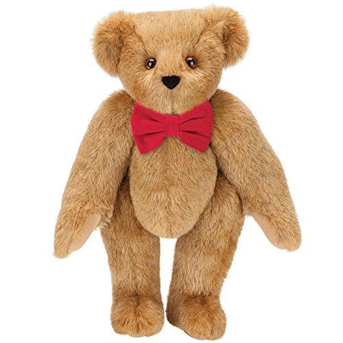 Vermont Teddy Bear - Red Bowtie Classic Bear, Special Occasion Gifts, 15 Inch Bear Toy, Brown