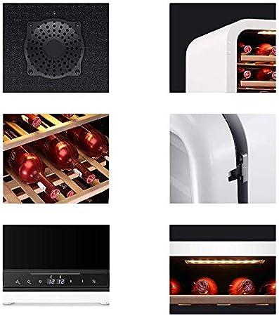 YFGQBCP Multifuncional Inoxidable Acero Rojo y Negro del refrigerador de Vino, Bodega encimera, encimera compresor de refrigeración, Tranquilo