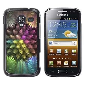 TopCaseStore / la caja del caucho duro de la cubierta de protección de la piel - Colorful Feathers - Samsung Galaxy Ace 2 I8160 Ace II X S7560M