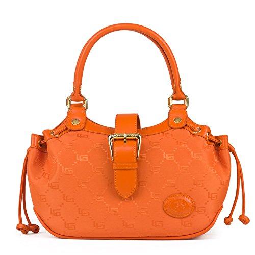 luigi324-81557, Borsa con maniglia Donna Arancione (Arancione)