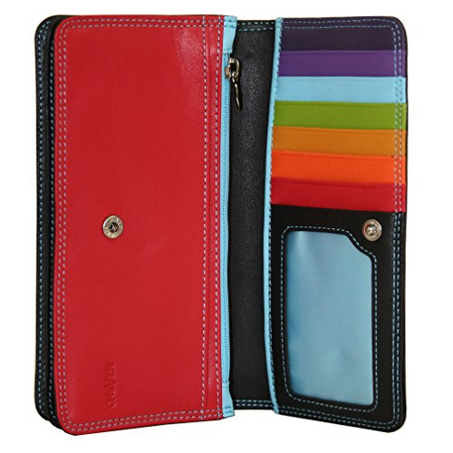 belarno-womens-a222-bifold-check-carrier-walletblack-rainbow
