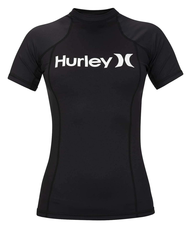 Protection Hurley Womens One /& Only Short Sleeve Sun Shirt Rashguard SPF 50