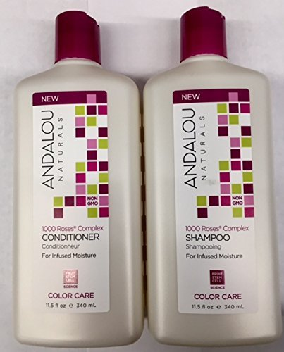 Andalou Naturals 1000 Roses Complex Color Care Shampoo and Conditioner ()