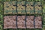 8 Digital Camouflage Camo Cornhole Bag Set (corn-filled)