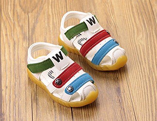 huateng Frühlings-Sommer-Jungen-Mädchen-Schuhe, Moderne Weiche Jungen-Sandelholze IM Freien Baby-Weiche Sohlen-Schuhe Erste gehende Schuhe Weiß