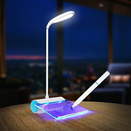 LED Desk Lamp, Rechargeable LED Message Board Reading Lamp With Touch Sensor by 8haohuo