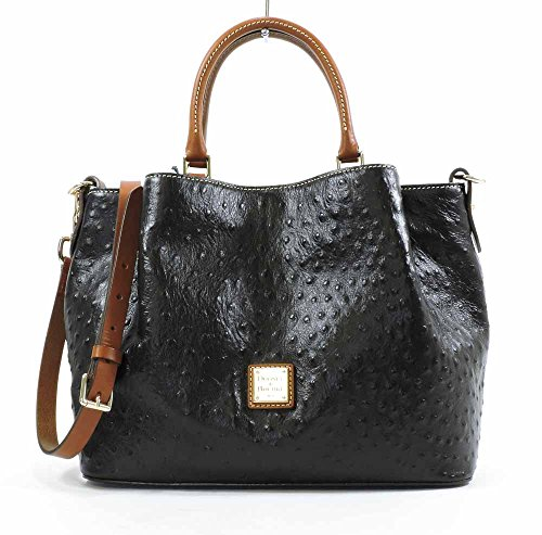 dooney-bourke-ostrich-emb-leather-barlow-bag-black