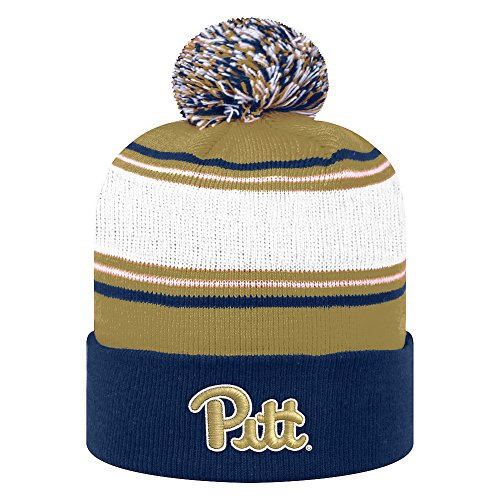 (Top of the World NCAA Pittsburgh Panthers Men's Elite Fan Shop Winter Knit Ambient Warm Hat, Navy)